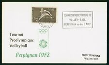 Mayfairstamps France 1972 Preolympic Volleyball Perpignan cover wwp1129