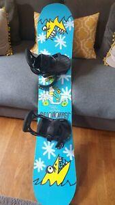 Salomon Ltd edt  Snowboard Burton bindings  Preowned
