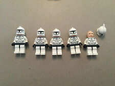 LEGO Star Wars Clone Trooper Lot of 5 minifigure minifig Clone Wars - Lot UNL