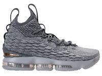 Nike Lebron 15 XV size 14. Wolf Grey Metallic Gold.  897648-005.