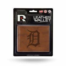 Detroit Tigers MLB Embossed Brown Leather Billfold Wallet
