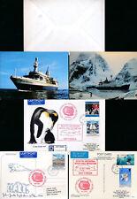 ANTARCTIC SOUTH GEORGIA WHALING MUSEUM 1993-97 PPCs + COVER...3 ITEMS