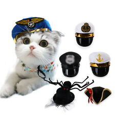 Creative Pet Hats Costume Cosplay Cat Hat Halloween Policeman Pirate Puppy Hats