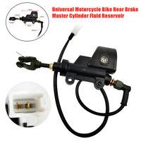 Universal Motorcycle Bike Rear Brake Master Cylinder Fluid Reservoir Aluminium