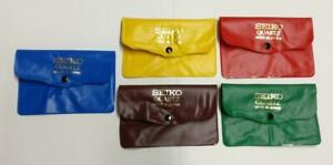Rare Vintage Seiko PVC Plastic Colourful Watch Pouch Case x5 Lot (TP393)