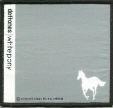 DEFTONES white pony 2000 - WOVEN SEW ON PATCH - official - no longer made