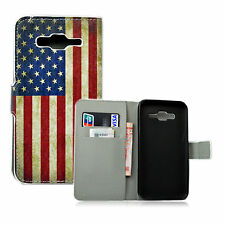 Retro PU Leather Wallet Soft Gel Phone Case Cover For Samsung Galaxy J5 2015