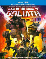 WAR OF THE WORLDS: GOLIATH (Blu-ray Disc, 2014, 2-Disc Set) in 3D NEW