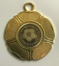 10/25/50/100 Football Man of the Match Medals with FREE RIBBONS 51 COLOURS!