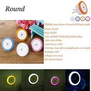 0.5W Plug-in Auto Sensor Control LED Night Light Lamp For Bedroom Kitchen SS991