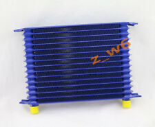 15 Row Blue Truck Racing Engine Trans Transmission 10AN Universal Oil Cooler