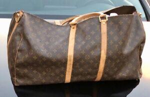 Auth. Vintage Louis Vuitton Monogram Classic Duffle Bag Purse damaged for parts