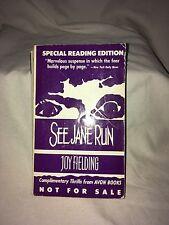 See Jane Run Joy Fielding Rare ARC Special Reading Edition Avon Books Vintage