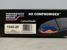 Performance Friction Disc Brake Pad-1040.20 Carbon Metallic Brake Pad Set/ Rear