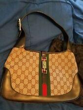 Gucci Jackie Canvas Logo Bag