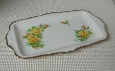 "Yellow TEA ROSE Royal Albert 11 1/2"" LARGE SANDWICH TRAY Bread Cake Plate China"