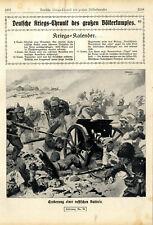 Eroberung einer russischen Batterie in Ostpreußen von Franz Schmidt von 1914