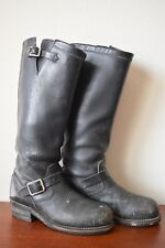 VINTAGE CHIPPEWA 27909 17'' MOTORCYCLE TROOPER RIDING ENGINEER BOOT - 7.5D - USA