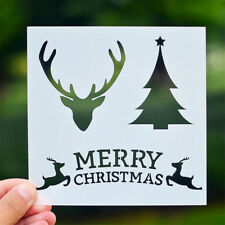 merry christmas layering stencils diy scrapbook album drawing template tool n Sc