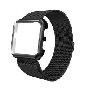 Magnetic Stainless Steel Watch Band Strap +Cover Case For Fitbit Versa