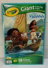 "Crayola Giant Coloring Pages Featuring Disney's Moana 18 Pages 12 3/4"" X 19 1/2"""