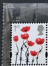 GB 2017 1st Class POPPY stamp (SG3717) mint/MNH - from DY22 Great War prestige