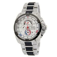 Seiko Velatura SPC005 P1 Silver White Dial Men's Yachting Quartz Watch