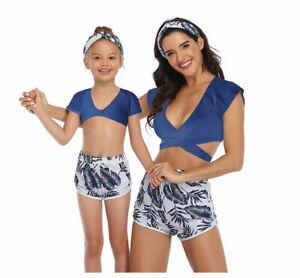 Three-Piece Swimsuit Underwear Summer Mother Daughter Beachwear Sexy Swimwear