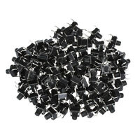 100pc 6x6x7mm Momentary Tactile Push Button Switch 4 Pin DIP Through Hole AD