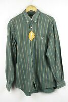 LACOSTE Mens Shirt BASI S.A. Long Sleeve FARMERS FLANNEL STRIPED Large 6 P100