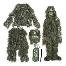 UK SELLER GHILLIE SUIT CAMO BURLAP WOODLAND SHOOTING / PHOTOGRAPHY CAMOUFLAGE