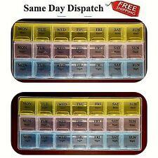 Pill Box Daily Organizer Medicine Tablet Storage Dispenser WEEKLY 7 Days Week UK