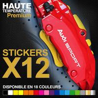 Stickers autocollants adhésifs pour étrier de frein - Audi Sport TT RS S-line