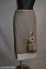 JUPE PAUL MAUSNER LIN & COTON NEUF T 38 /SKIRT  UK 10  /  / FALDA / GONNA