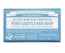 DR BRONNER`S MAGIC FAIRTRADE PURE BABY MILD CASTILE SOAP 140g