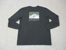 Patagonia Shirt Adult Extra Large Brown Green Long Sleeve Climbing Hiker Mens *