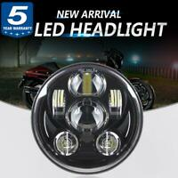 """DOT 5.75"""" 5 3/4 in Round CREE LED Headlight DRL For HarleyDavidson Softail Dyna"""