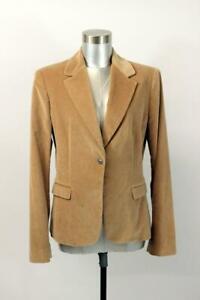 TAHARI Brown Velvet Blazer Jacket MODERN Designer One Button Career Wear L 12