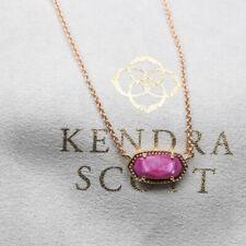 $65 NEW Kendra Scott Elisa Rose Gold Pendant Necklace In Purple Jade