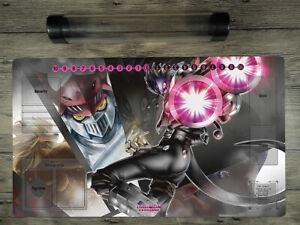 Digimon Beelzemon & DukemonTrading Card Game Playmat DTCG Card Zone Mat FreeTube