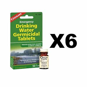 Coghlan's Emergency Drinking Water Germicidal Tablets Purification(6-Pack of 50)
