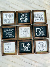 Laundry Room Decor Signs | Wood | Funny Laundry Signs | Gift For Mom | Farmhouse