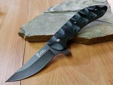 Bad Blood Kendrick Linerlock Folding Knife 8Cr14 Black Green G10 EDC 0103K