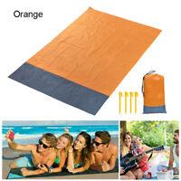 Large Beach Mat Picnic Blanket Sand Waterproof Free Sandless Straw Camping Rug