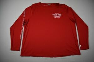 Texas Tech Red Raiders Under Armour Long Sleeve Shirt Women's Red Poly NEW 3XL