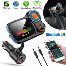"1.8"" Color Screen Bluetooth Car FM Transmitter Radio Adapter QC3.0 USB Charger"