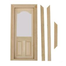 1:12 Scala Porta in Legno Interno e Frame Dollhouse Miniatura Accessorio DIY