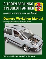 Reparaturhandbuch Citroen Berlingo 2008 - 2011, 2012, 2013, 2014, 2015 & 2016