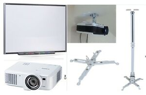 "77"" SB680 SMART Board Interactive Whiteboard HDMI Projector & Ceiling Mount"