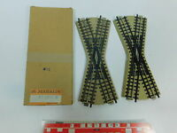 AV793-0,5# 2x Märklin/Marklin H0/00/AC Kreuzung (M-Gleis) für 3600/800, 1x OVP